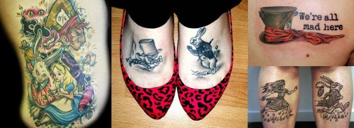 tatuagem Alice no País das Maravilhas
