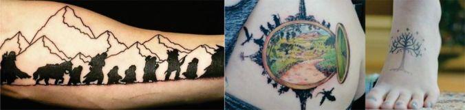 hobbit senhor dos anéis tattoo